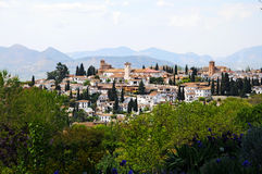 Granada-Überblick Stockbild