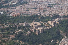 Granada from air Royalty Free Stock Photo