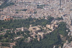 Granada from air Royalty Free Stock Photography
