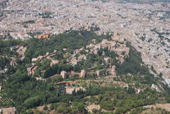 Granada from air Stock Photo