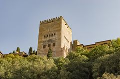 Granada Albaicin Alhambra arab city heritage of humanity and his Stock Image
