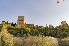 Granada Albaicin Alhambra arab city heritage of humanity and his Royalty Free Stock Photography