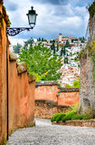 Granada - Albaicin Moorish quarter, Andalusia in Spain Royalty Free Stock Photo