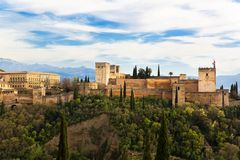 Granada, Alhambra Zdjęcia Royalty Free