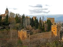 Granada, Alhambra 15. The great Moorish Alhambra Palace in Granada, Spain Royalty Free Stock Photos