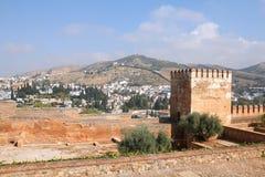 Granada - Alhambra. Granada in Andalusia region of Spain. Alhambra castle. UNESCO World Heritage Site Stock Images