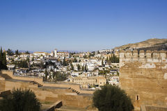 Granada from Alhambra. Stock Photos