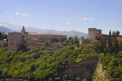 Granada, Alhambra, Alcazaba. In Spain Stock Photography