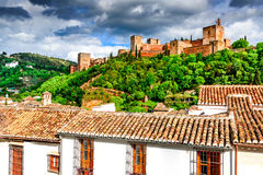 Granada - Alhambra, Andalusia, Spain Stock Photography