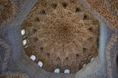 Granada - Hall of the Abencerrajes Andalucia Spain. Granada - Alhambra architectural detail - `Honeycomb,` `stalactite,` or `moçárabe` vaulting in the stock images