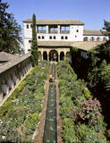 Granada Alhambra garden Royalty Free Stock Images