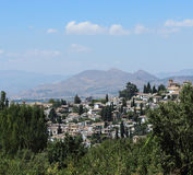 Granada from the Alhambra Royalty Free Stock Photo