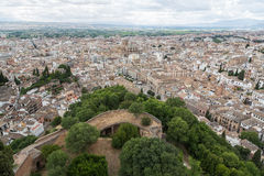 Granada from the Alhambra Royalty Free Stock Photos