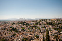 Granada from the Alhambra Stock Photography
