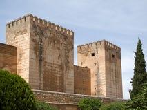 GRANADA ANDALUCIA/SPAIN - MAJ 7: Del av Alhambra Palace Royaltyfri Foto