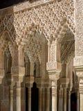 GRANADA ANDALUCIA/SPAIN - MAJ 7: Del av Alhambra Palace Arkivfoton