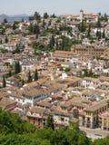 GRANADA ANDALUCIA/SPAIN - MAJ 7: Sikt av Granada i Andalucia Royaltyfria Bilder