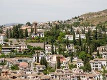GRANADA ANDALUCIA/SPAIN - MAJ 7: Sikt av Granada i Andalucia Royaltyfri Foto