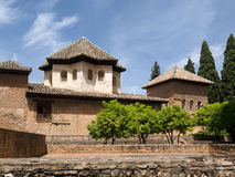 GRANADA, ANDALUCIA/SPAIN - MAY 7 : Part of the Alhambra Palace i. N Granada Andalucia Spain on May 7, 2014 royalty free stock photography