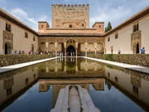 GRANADA, ANDALUCIA/SPAIN - MAY 7 : Part of the Alhambra Palace stock images