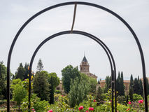 GRANADA, ANDALUCIA/SPAIN - MAY 7 : View from the Alhambra Palace. Gardens in Granada Andalucia Spain on May 7, 2014 Stock Images