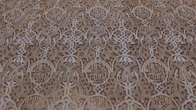 Granada, Andalusia, Spagna - 17 aprile 2016: Complesso del palazzo e della fortezza di Alhambra situato a Granada stock footage