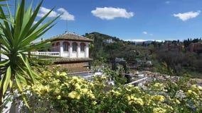 Granada, Andalusia, Spagna - 15 aprile 2016: Vista di Alhambra da un punto panoramico