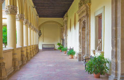 Granada - The atrium of church Monasterio de San Jeronimo. Royalty Free Stock Images