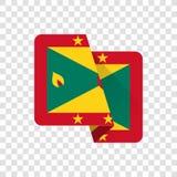 Granada - bandeira nacional ilustração do vetor