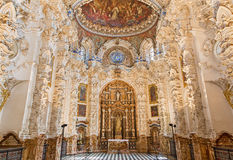 Granada - The baroque sacristy in church Monasterio de la Cartuja. Royalty Free Stock Image