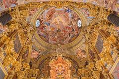 Granada - The baroque sanctuary (Sancta Sanctorum) in church Monasterio de la Cartuja Royalty Free Stock Photos