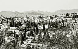 Granada in black and white Stock Photos
