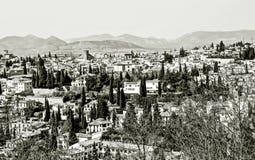 Granada in black and white Stock Photos