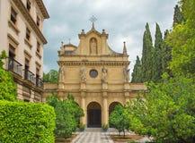 Granada - cappella di sindaco Isabel la Catolica di Colegio Fotografie Stock