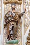 Granada - The carved statue of Saint Philip the apostle in church Nuestra Senora de las Angustias Royalty Free Stock Photos