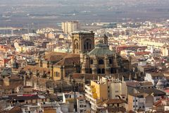 Granada cathedral, Andalusia Spain stock photo
