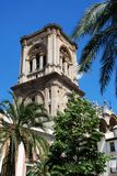 Granada cathedral bell tower. Royalty Free Stock Photography