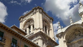Granada Cathedral Cathedral of the Incarnation in gothic and spanish renaissance style, Andalucia, Spain stock video