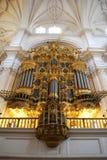 Granada cathedral organ pipes. Stock Photography