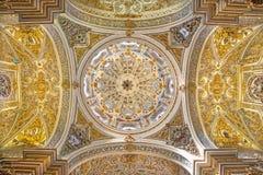 Granada - The ceiling and cupolas of church Nuestra Senora de las Angustias. Stock Photo