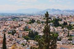 Granada city. Aerial view of Granada city, Andalusia, Spain Stock Images