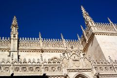 Granada city, cathedral view, spain. Cathedral of granada city in spain. Church architecture details. famous Landmark of granada royalty free stock image