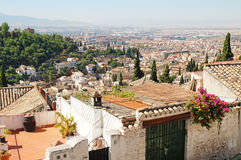 Granada, city view, Arab quarter Albayzín Stock Photo
