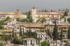 Granada city view Stock Photos