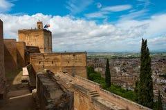 Granada cityscape royaltyfri fotografi