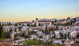 Granada Cityscape Churches Andalusia Spain Royalty Free Stock Photo