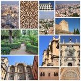 Granada collage Stock Photos