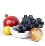 Granada con otras frutas Foto de archivo