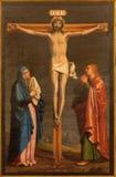 Granada - The crucifixion paint from church in Monasterio de la Cartuja Stock Images