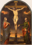 Granada - The Crucifixion paint in the church Monasterio de San Jeronimo by by unknown artist of 17. cent. Royalty Free Stock Photography